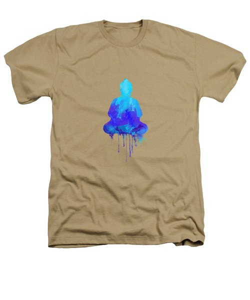 Blue Buddha Watercolor Painting Heathers T-Shirt by Thubakabra