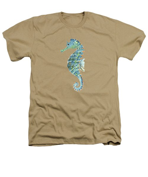 Blue Seahorse Heathers T-Shirt by Amy Kirkpatrick