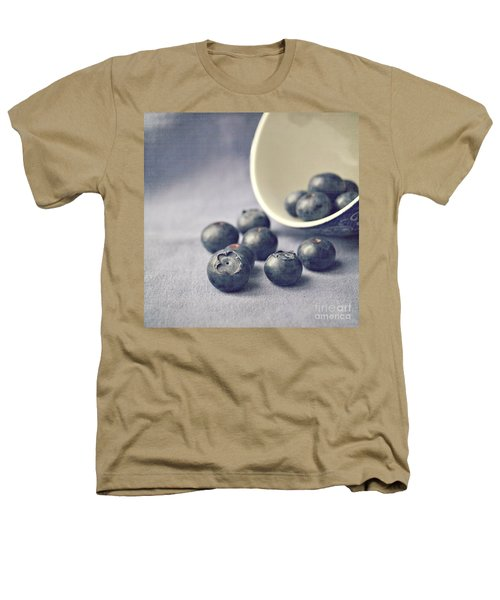 Bowl Of Blueberries Heathers T-Shirt by Lyn Randle