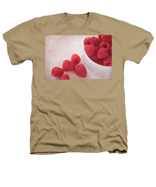 Bowl Of Red Raspberries Heathers T-Shirt by Cindi Ressler