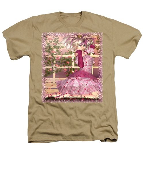 Breath Of Rose Fantasy Elf Heathers T-Shirt by Sharon and Renee Lozen