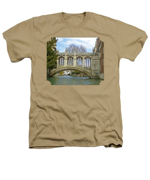 Bridge Of Sighs Cambridge Heathers T-Shirt by Gill Billington