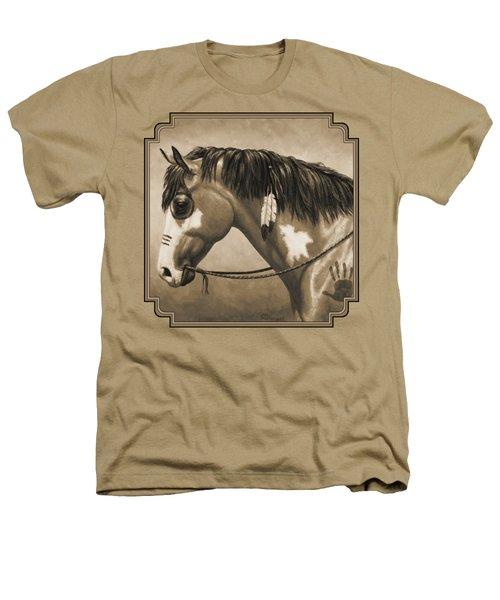 Buckskin War Horse In Sepia Heathers T-Shirt by Crista Forest