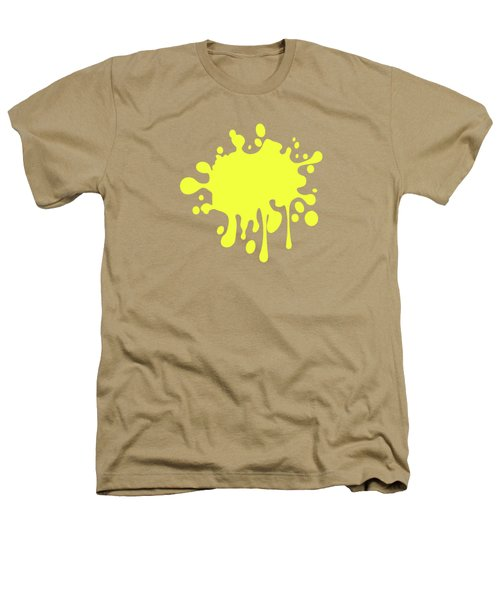 Canary Yellow Solid Color Decor Heathers T-Shirt by Garaga Designs