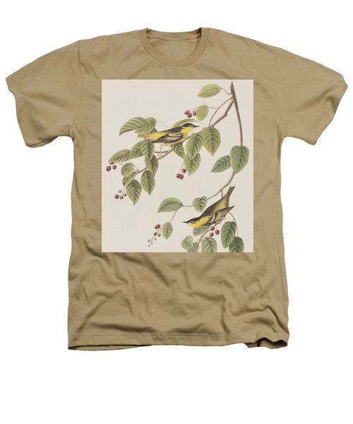 Carbonated Warbler Heathers T-Shirt by John James Audubon