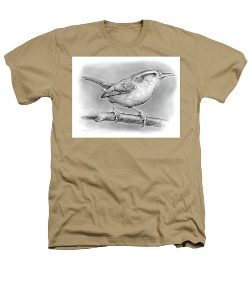 Carolina Wren Heathers T-Shirt by Greg Joens