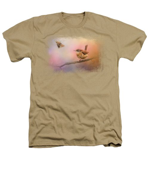 Carolina Wrens Heathers T-Shirt by Jai Johnson