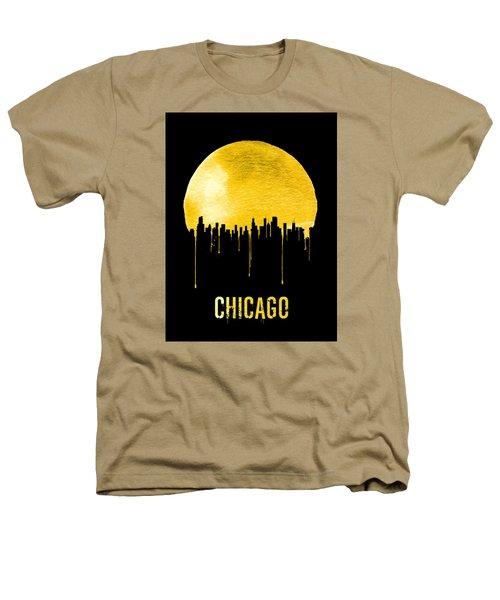 Chicago Skyline Yellow Heathers T-Shirt by Naxart Studio