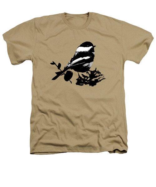Chickadee Bird Pattern Heathers T-Shirt by Christina Rollo