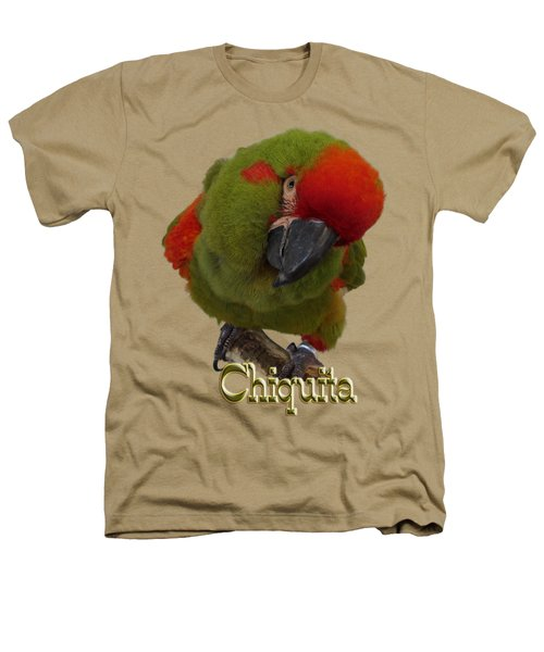 Chiquita, A Red-front Macaw Heathers T-Shirt by Zazu's House Parrot Sanctuary