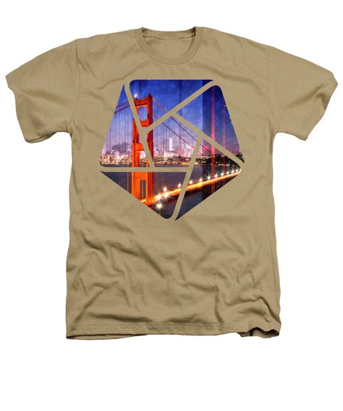 City Art Golden Gate Bridge Composing Heathers T-Shirt by Melanie Viola