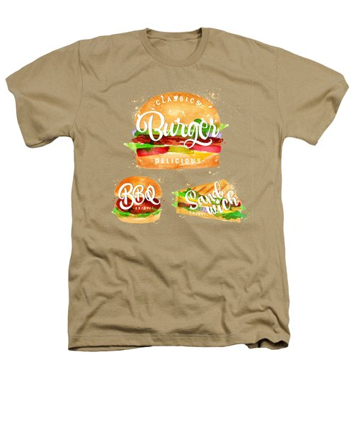 Color Burger Heathers T-Shirt by Aloke Design