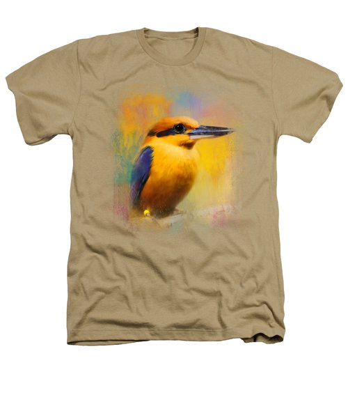 Colorful Expressions Kingfisher Heathers T-Shirt by Jai Johnson