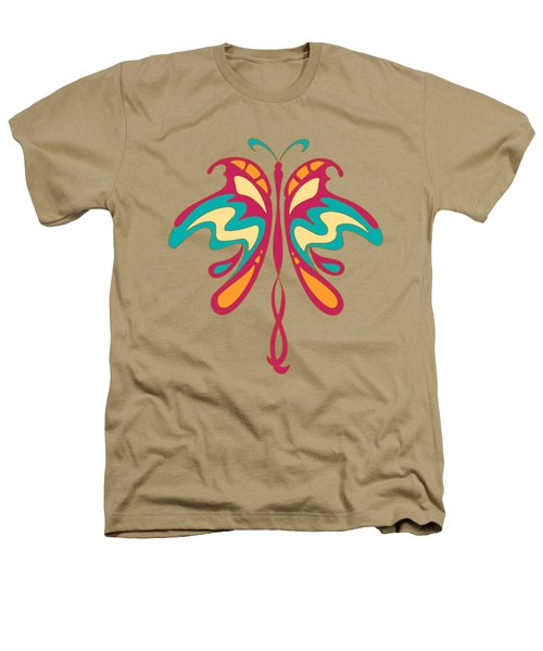 Colourful Art Nouveau Butterfly Heathers T-Shirt by Heidi De Leeuw