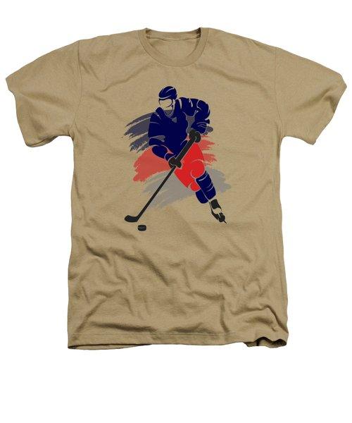Colubus Blue Jackets Player Shirt Heathers T-Shirt by Joe Hamilton