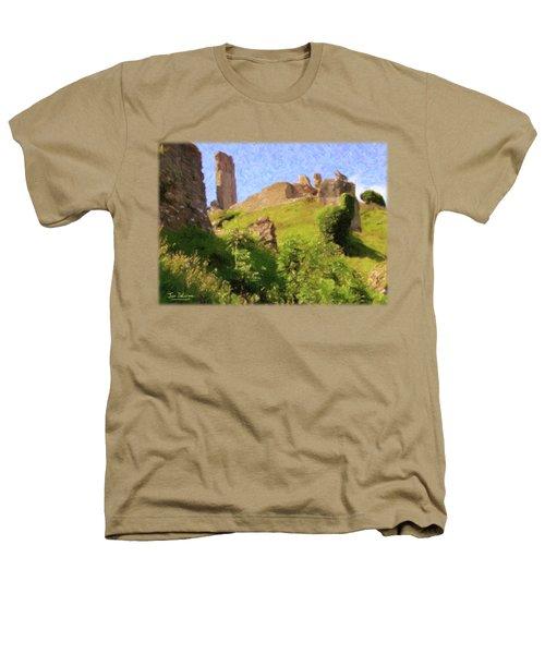 Corfe Castle Heathers T-Shirt by Jon Delorme
