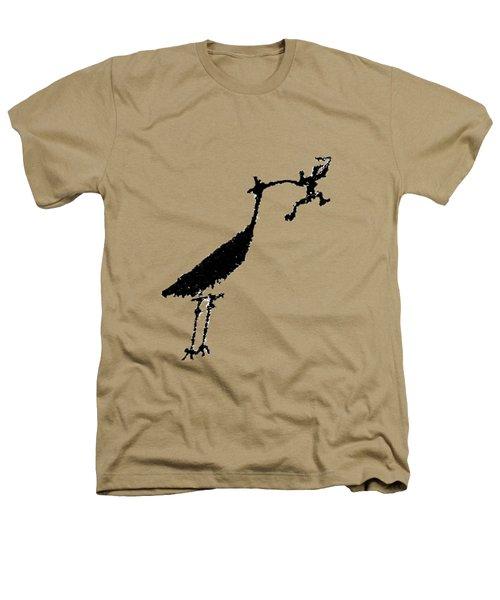 Crane Petroglyph Heathers T-Shirt by Melany Sarafis