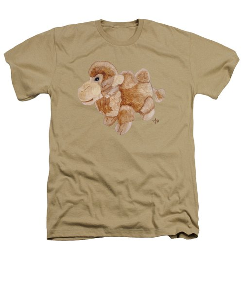 Cuddly Camel Heathers T-Shirt by Angeles M Pomata