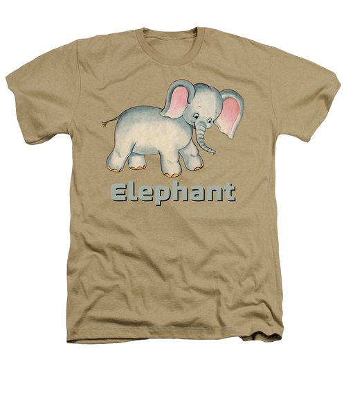 Cute Baby Elephant Pattern Vintage Illustration For Children Heathers T-Shirt by Tina Lavoie