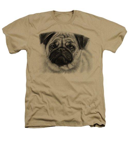Cute Pug Heathers T-Shirt by Olga Shvartsur
