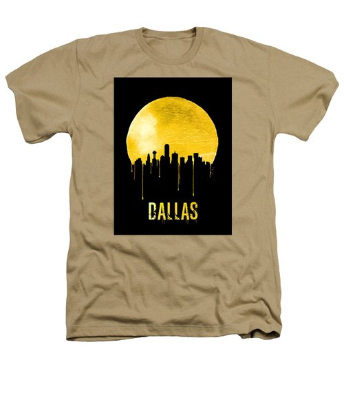 Dallas Skyline Yellow Heathers T-Shirt by Naxart Studio