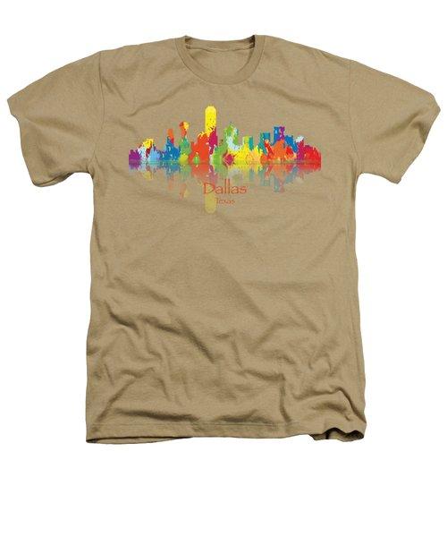 Dallas Texas Tshirts And Accessories Art Heathers T-Shirt by Loretta Luglio