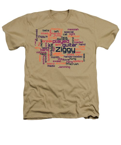 David Bowie - Ziggy Stardust Lyrical Cloud Heathers T-Shirt by Susan Maxwell Schmidt