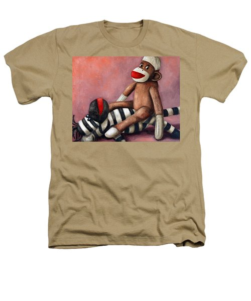 Dirty Socks 3 Playing Dirty Heathers T-Shirt by Leah Saulnier The Painting Maniac