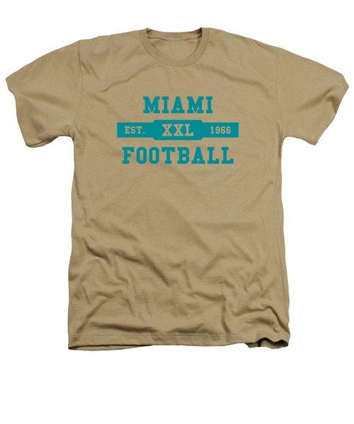 Dolphins Retro Shirt Heathers T-Shirt by Joe Hamilton