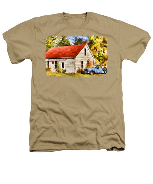Door County Gus Klenke Garage Heathers T-Shirt by Christopher Arndt