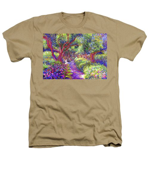 Dove And Healing Garden Heathers T-Shirt by Jane Small