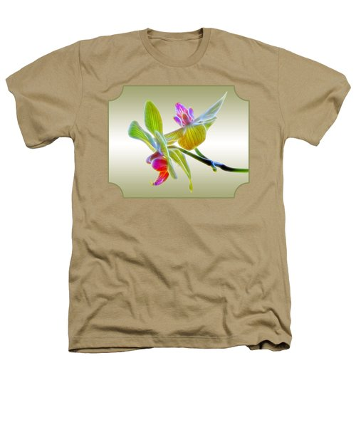 Dragon Glow Orchid Heathers T-Shirt by Gill Billington