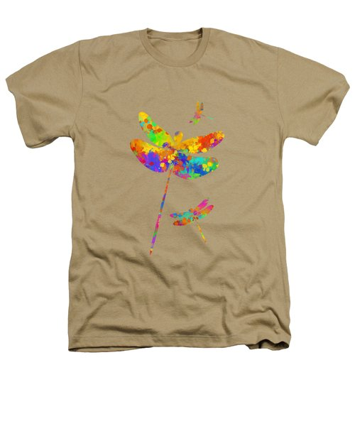 Dragonfly Watercolor Art Heathers T-Shirt by Christina Rollo