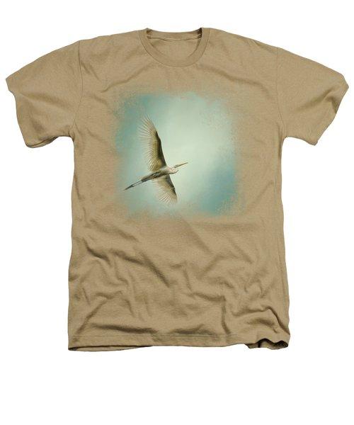 Egret Overhead Heathers T-Shirt by Jai Johnson