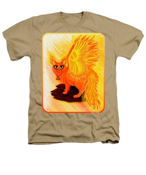 Elemental Fire Fairy Cat Heathers T-Shirt by Carrie Hawks