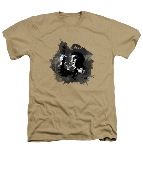 Elvis Gray Splash Heathers T-Shirt by Ryan Anderson