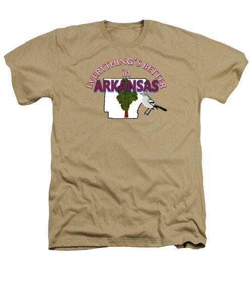 Everything's Better In Arkansas Heathers T-Shirt by Pharris Art