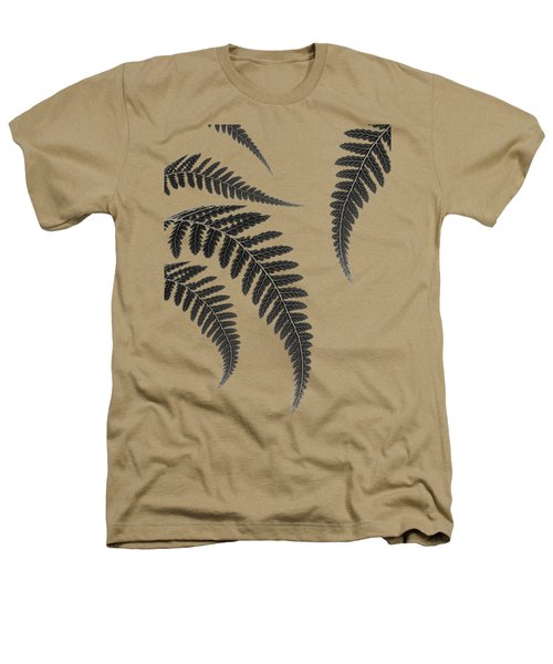 Fern Leaves Heathers T-Shirt by Mark Rogan