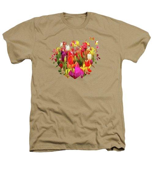 Field Of Tulips Heathers T-Shirt by Thom Zehrfeld