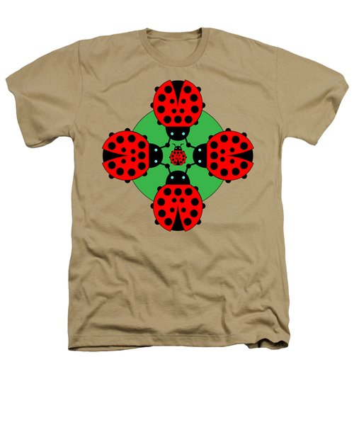 Five Lucky Ladybugs Heathers T-Shirt by John Groves