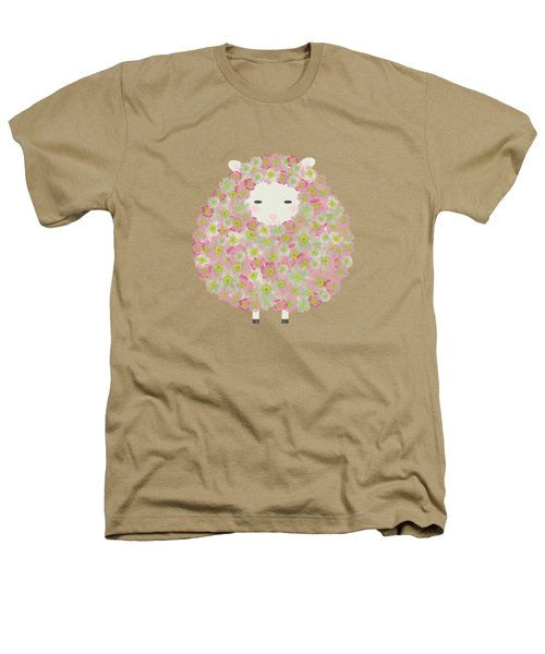 Flowery Sheep Heathers T-Shirt by Brigitte Carre