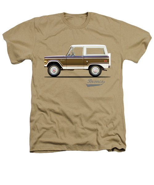 Ford Bronco Ranger 1976 Heathers T-Shirt by Mark Rogan