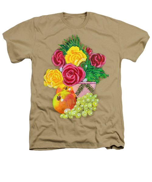 Fruit Petals Heathers T-Shirt by Joe Leist -digitally mastered by- Erich Grant