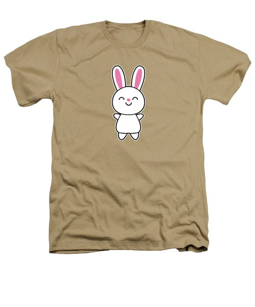 Funny Cute Rabbit Bunny In Pink Heathers T-Shirt by Philipp Rietz