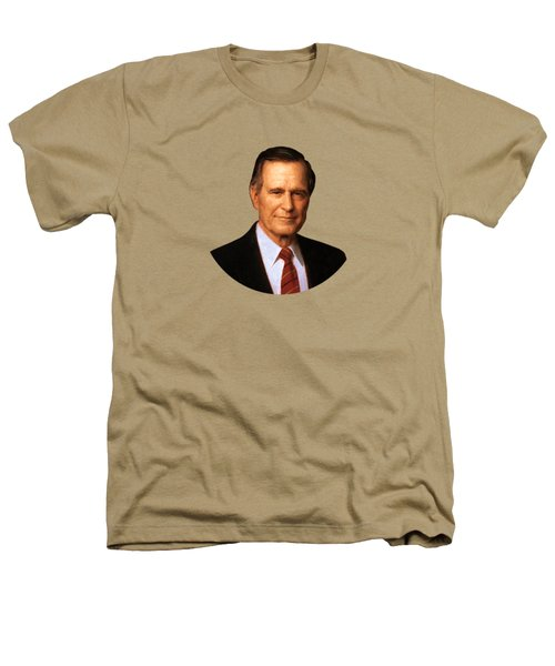 George Hw Bush Presidential Portrait Heathers T-Shirt by War Is Hell Store