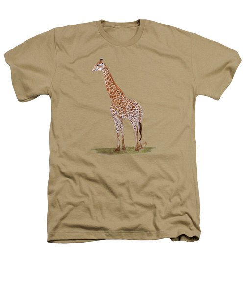 Giraffe Heathers T-Shirt by Angeles M Pomata