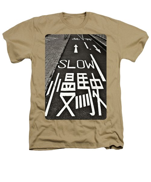 Go Slow Heathers T-Shirt by Ethna Gillespie