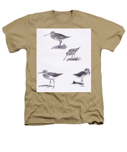 Godwits And Green Sandpipers Heathers T-Shirt by Archibald Thorburn