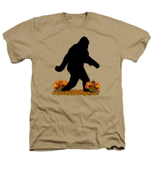 Gone Thanksgiving Squatchin' Heathers T-Shirt by Gravityx9   Designs