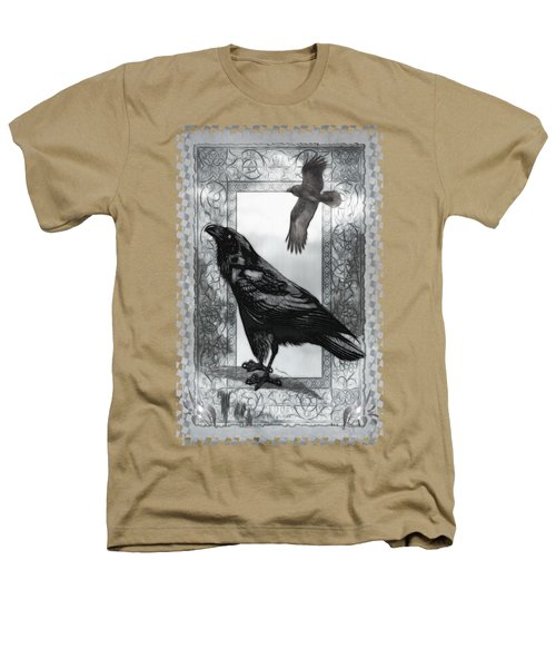 Gothic Victorian Raven Mixed Media Illustration Heathers T-Shirt by Sharon and Renee Lozen
